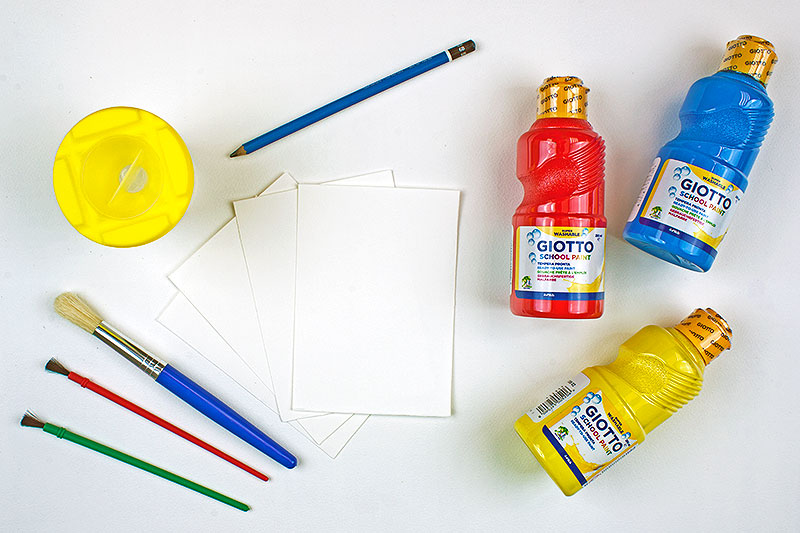 What you will need for Easter finger painting
