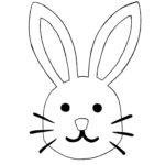 Rabbit face stencil