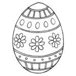 Easter egg stencil 4