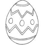 Easter egg stencil 2
