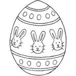 Easter egg stencil 1