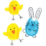 Finger paint bunnies and chicks