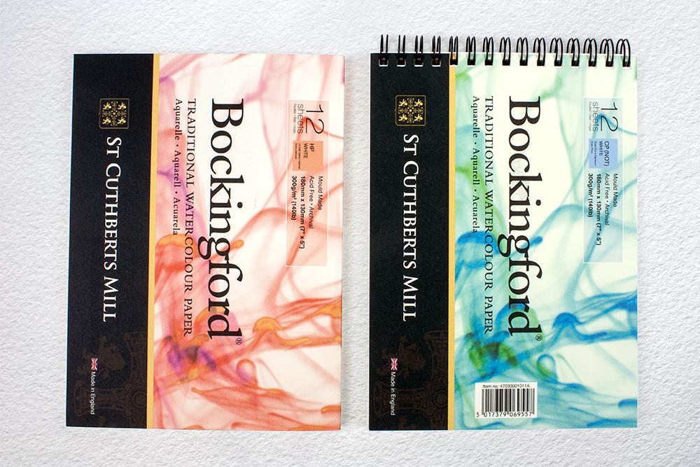 Bockingford watercolour paper pads