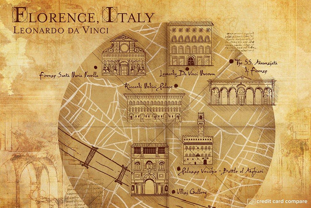 Leonardo da Vinci florence map