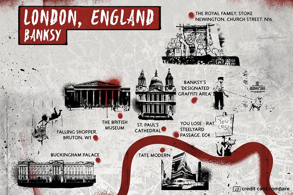 banksy london map