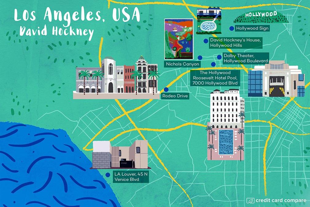 david hockney los angeles map