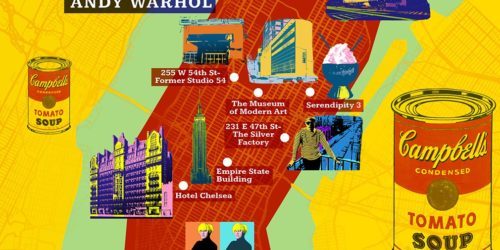 andy warhol new york map