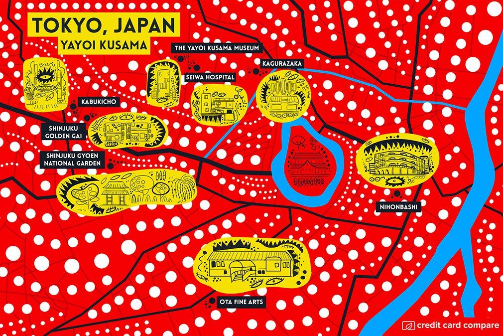 Yayoi Kusama tokyo map