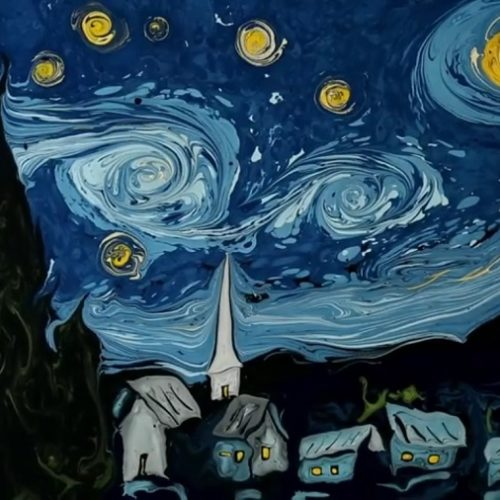Starry Night - Painted on Water