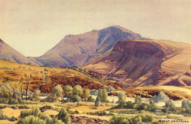 Albert Namatjira - landscape