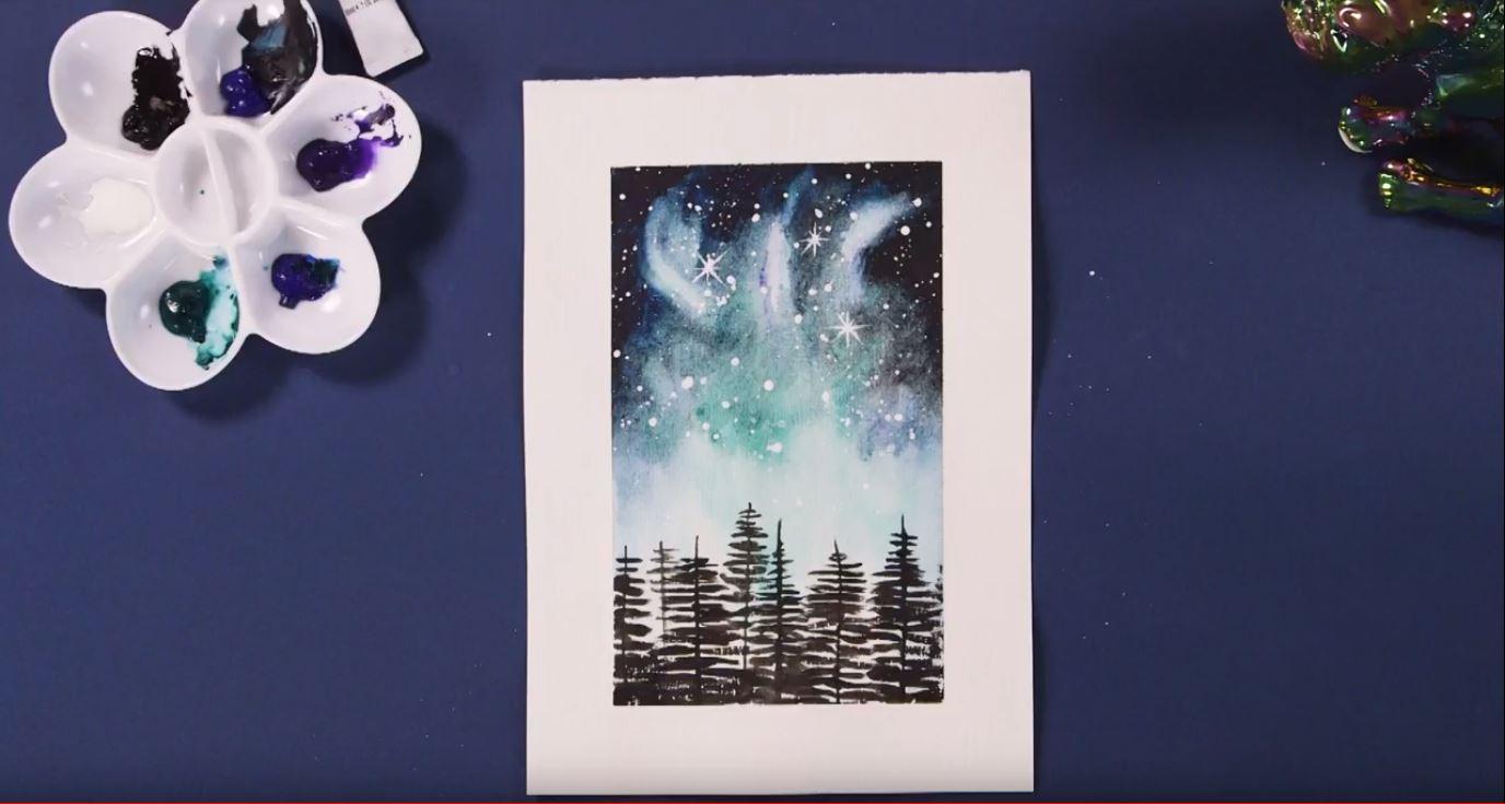 How to Paint a Watercolour Galaxy   Ken Bromley Art Supplies