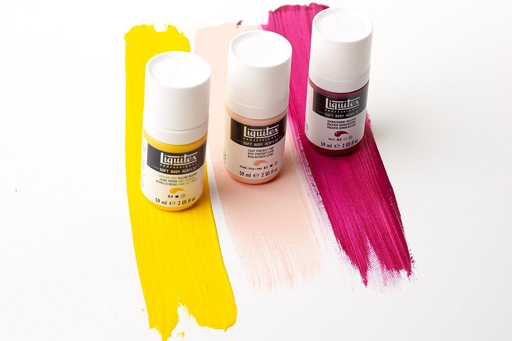 3 bottles of Liquitex Soft Body Acrylic Paint