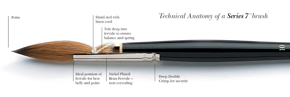 Technical Anatomy of a Series 7 Brush