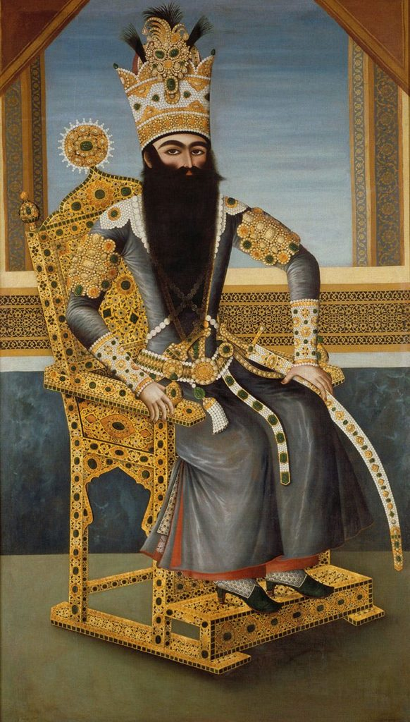 Fath 'Ali Shah on his throne