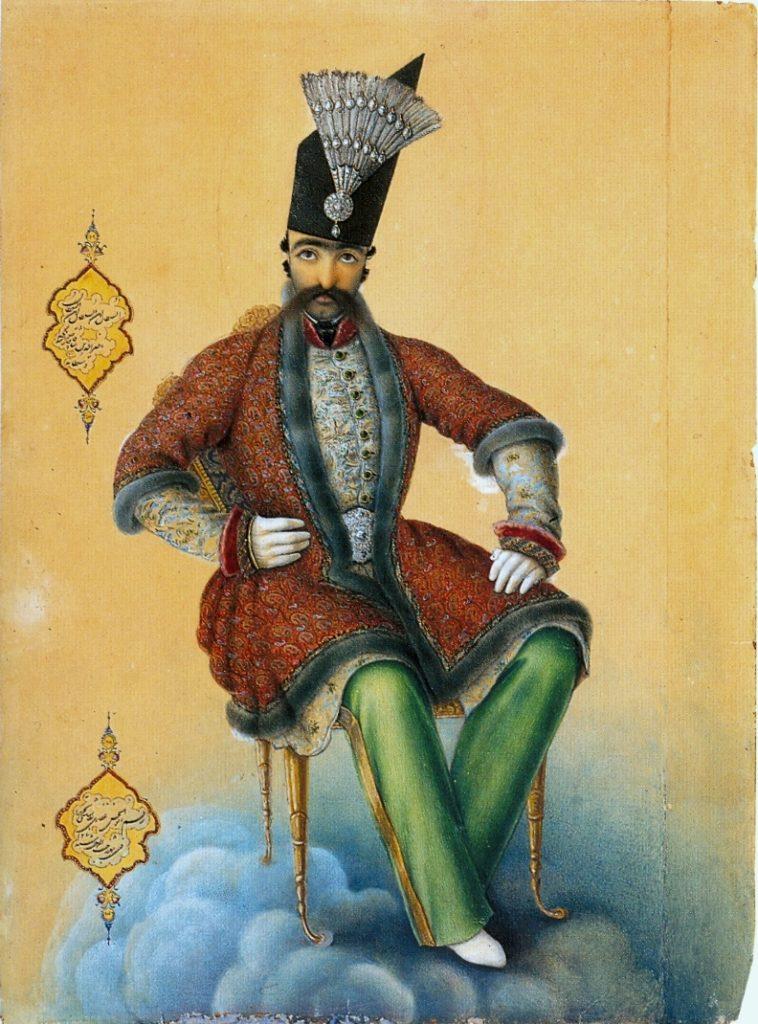Naser al-Din Shah by Abul Hasan Ghaffari, 1854