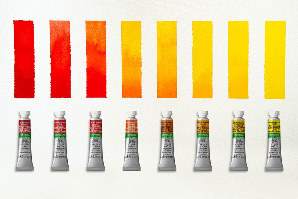8 cadmium-free colours