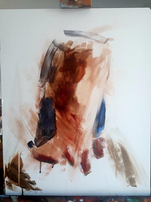 7 Step Acrylic Self Portrait Tutorial By Aine Divine Ken Bromley Art Supplies