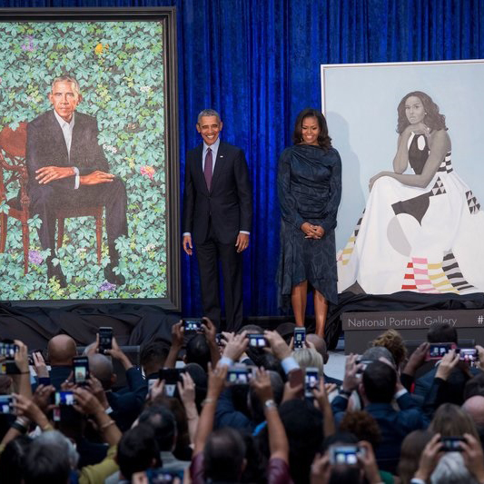 Barack and Michelle Obama, the Official Portraits
