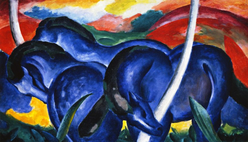 Franz Marc, The Large Blue Horses