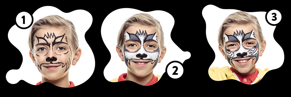 Snazaroo Cat Zombie Children's Face Paint Design Instructions