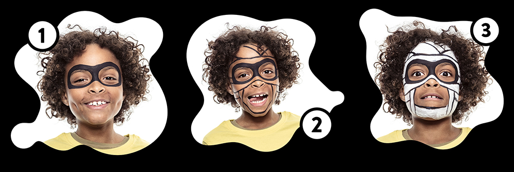 Snazaroo Mummy Children's Face Paint Design Instructions