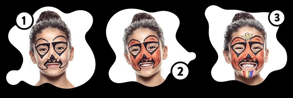 Snazaroo Pumpkin Children's Face Paint Design Instructions