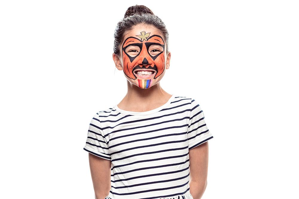 Snazaroo Pumpkin Children's Face Paint Design