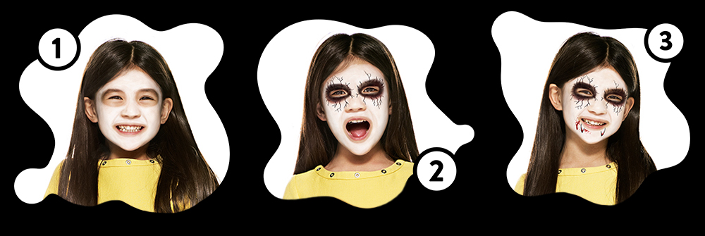Snazaroo Alternative Vampire Children's Face Paint Design Instructions