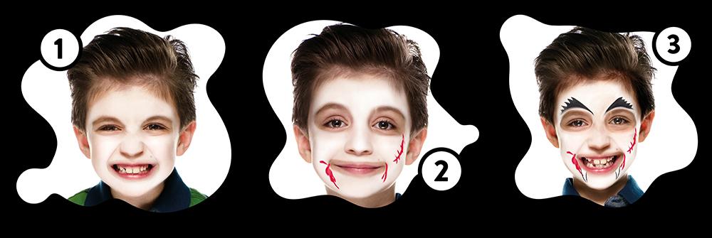 Snazaroo Vampire Children's Face Paint Design Instructions