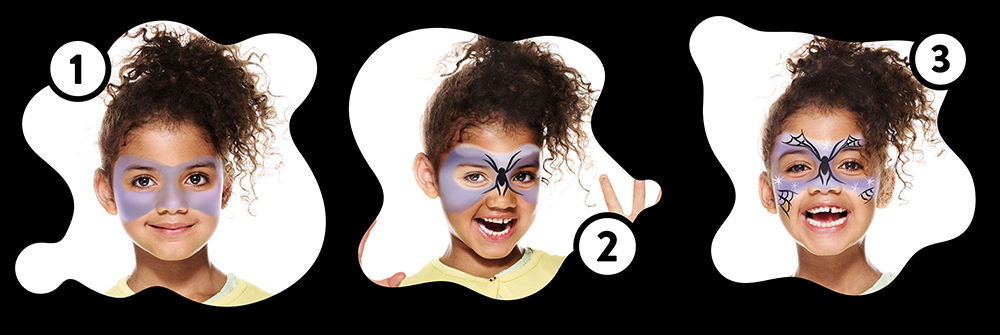 Snazaroo Witch Children's Face Paint Design Instructions