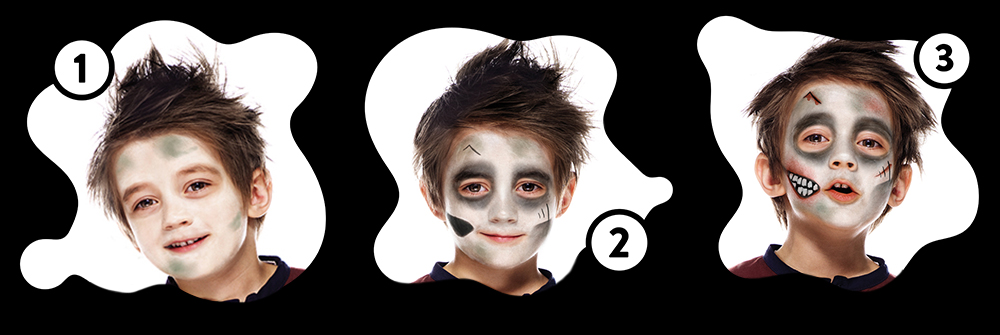 Snazaroo Zombie Children's Face Paint Design Instructions