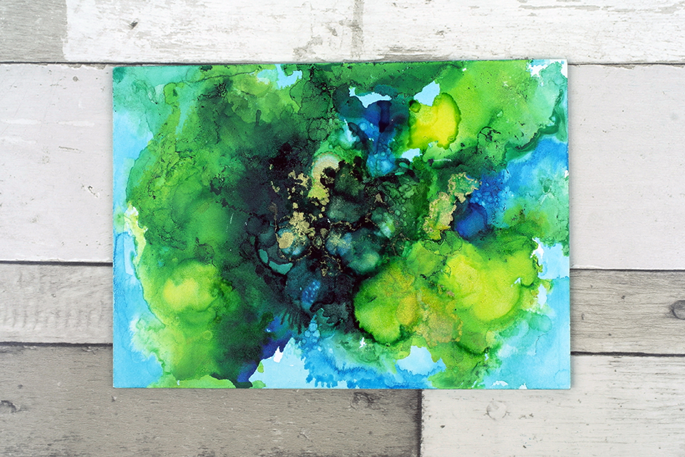 Using alcohol inks on Ampersand Claybord Artist Painting Panels