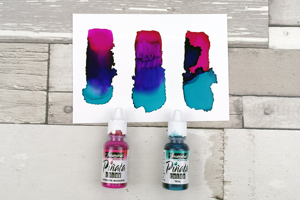 Mixing and blending Pinata Alcohol Inks