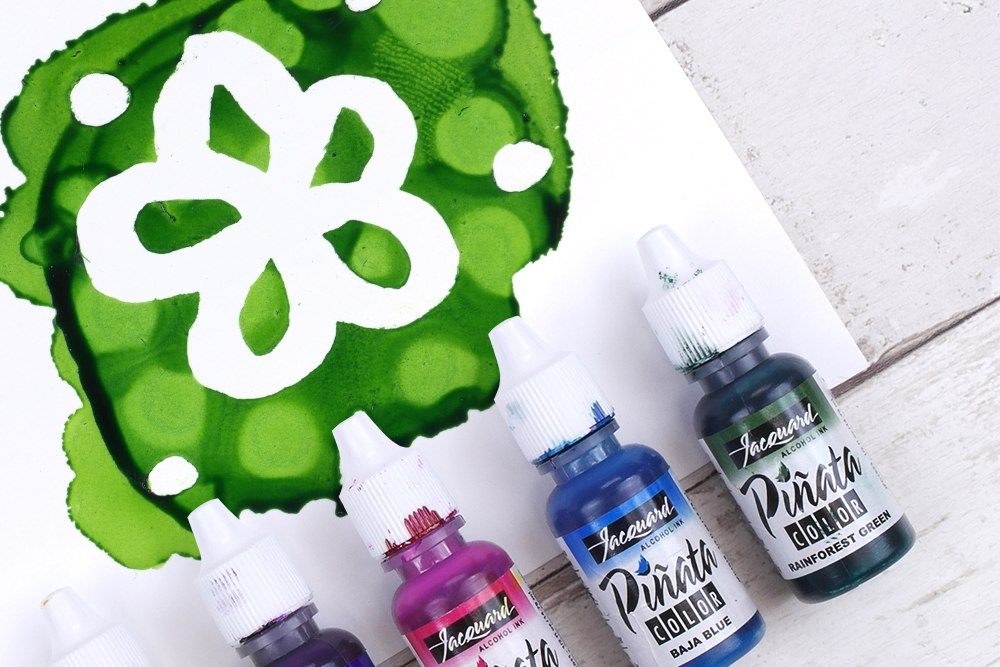 Using Alcohol Inks with Masking Fluid