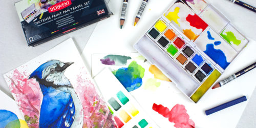 Carry the brilliance of Inktense in your pocket with Derwent Inktense Paint Pan Travel Sets