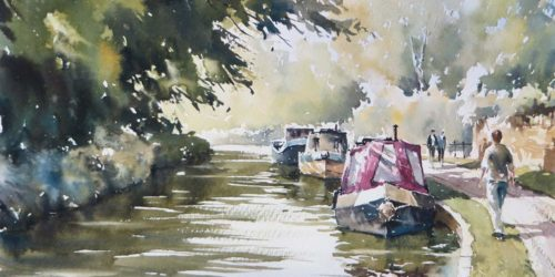 Reflections, Bradford on Avon, Watercolour Tutorial by Paul Weaver