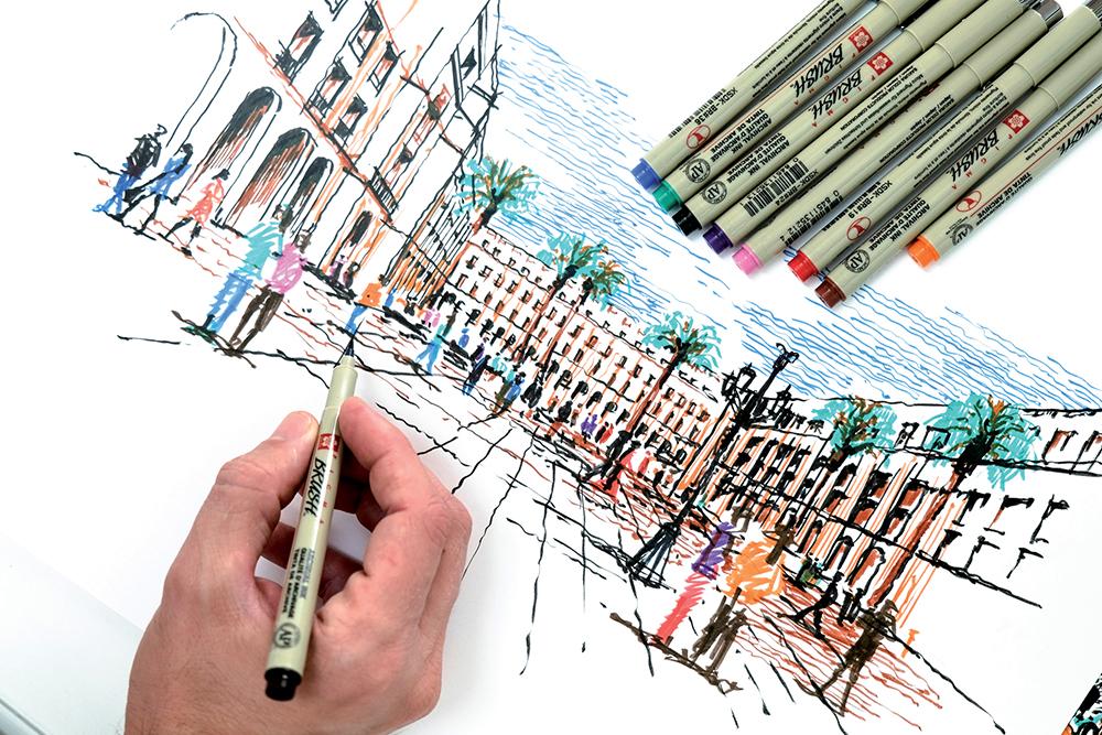 Sakura Pigma Brush Pen Artwork by Dan Hogman