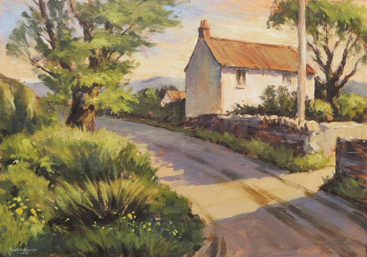 Tutorial Painting A Spring Landscape With Early Morning Shadows Using Acrylic Paint Ken Bromley Art Supplies