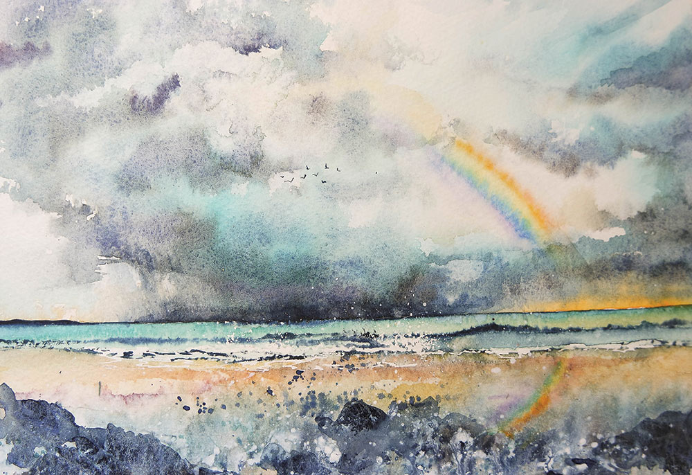 Part of the Rainbow series by artist Rachel Toll