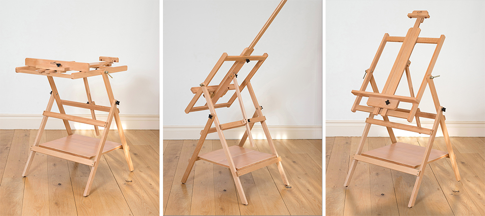 The EL698 Loxley Essex Studio Easel in use