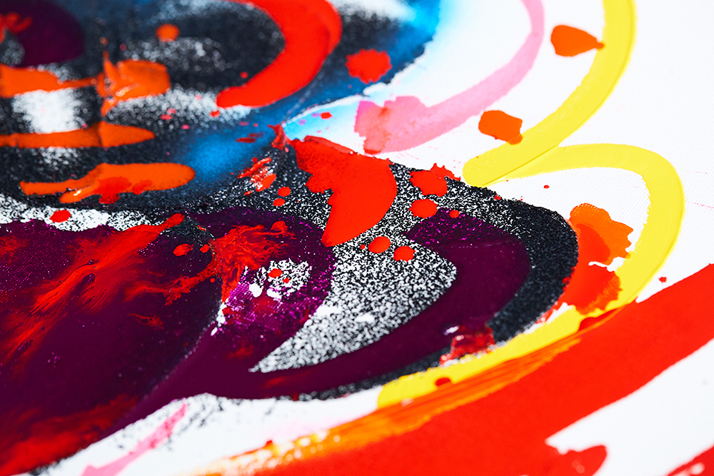 Liquitex acrylic paints, inks, markers and mediums are fully intermixable with one another