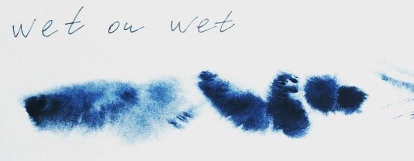 wet on wet watercolour technique