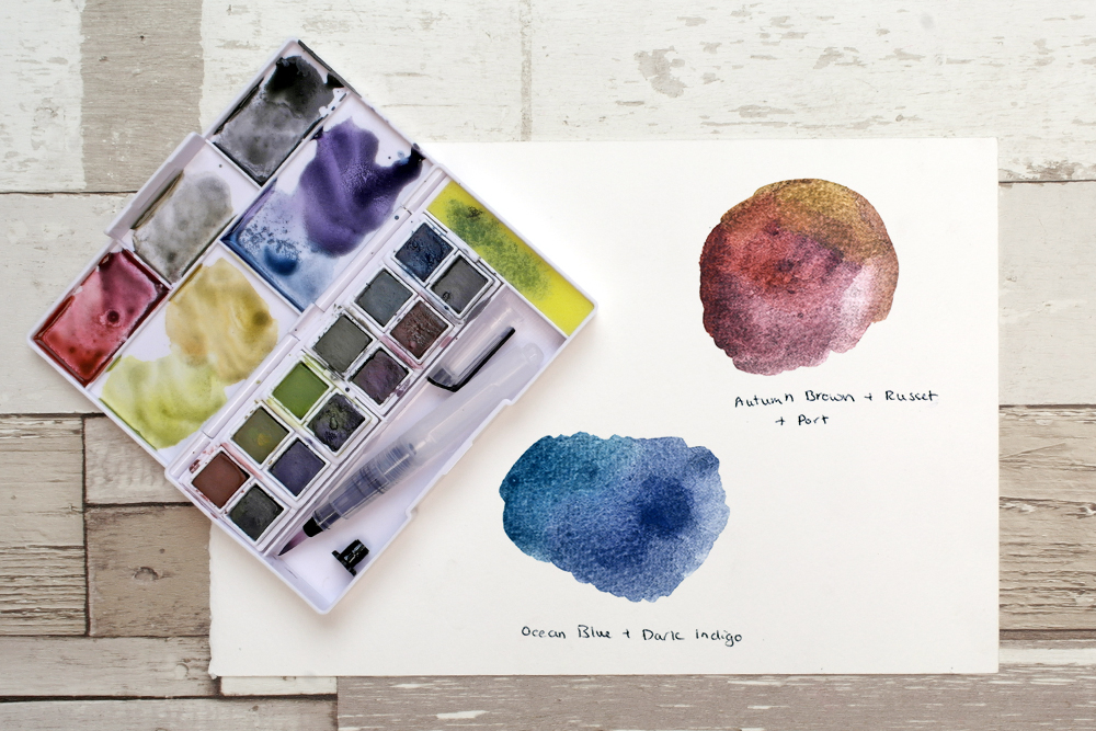 Derwent Graphitint Paint Set with colour mixes