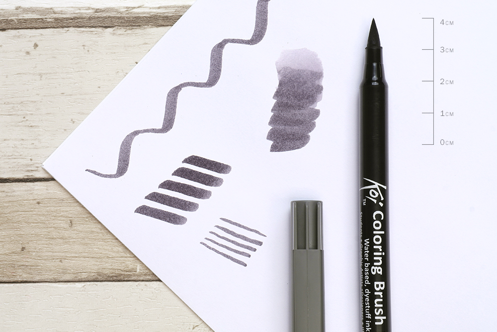 Sakura Koi Colouring Brush Pen Nib Detail