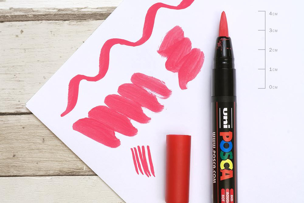 Uni POSCA PCF 350 Brush Tip Paint Pen Nib Detail