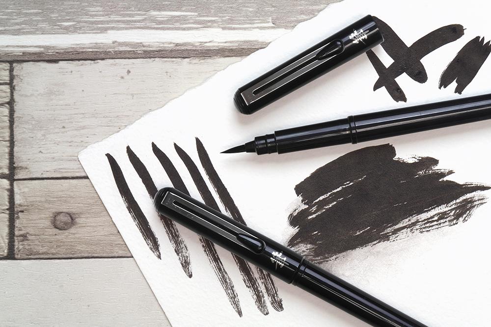 Pentel Brush Pen with Brush Pen Strokes