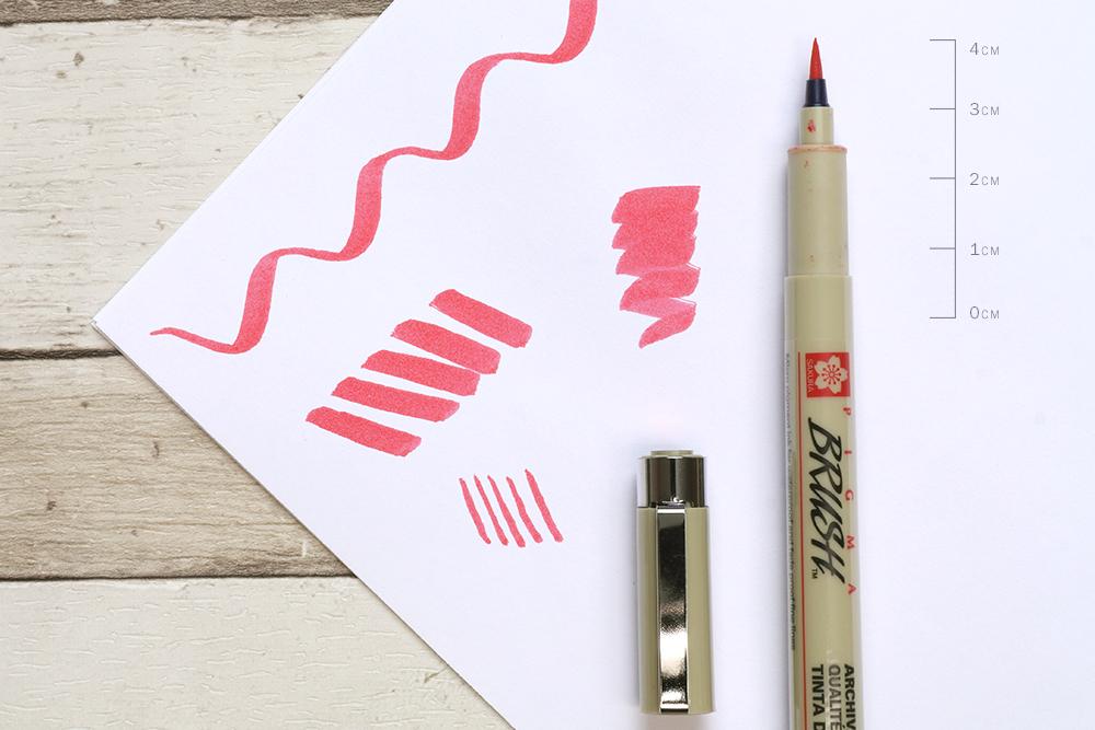 Sakura Pigma Brush Pen Nib Detail