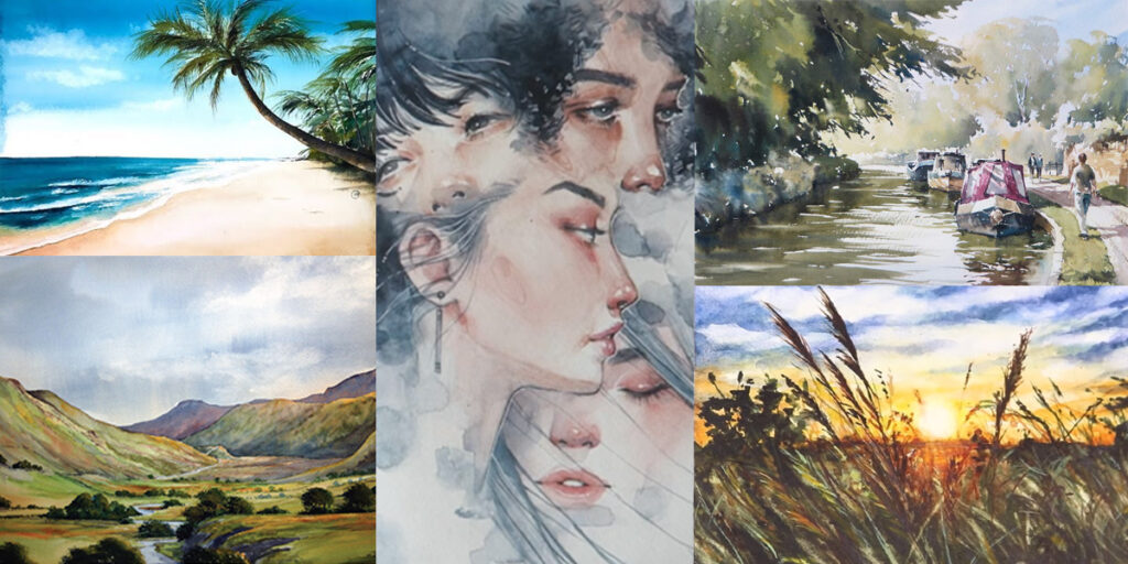 free watercolour painting tutorials