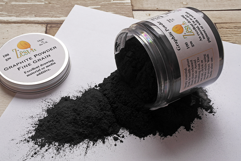 Zest It Graphite Powder for cold wax painting