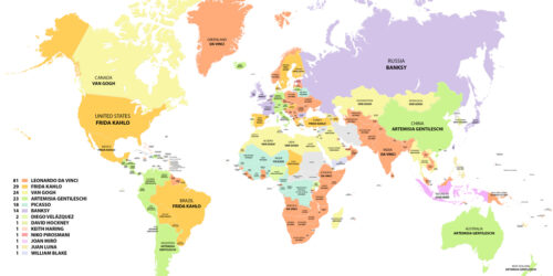 The Most Popular Artist in Every Country Around the World